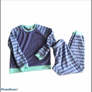 L.L.Bean Kids COZY 2 Piece Fleece Pajamas Purple M